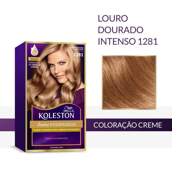 Koleston Coloração 1281 Louro Dourado Intenso
