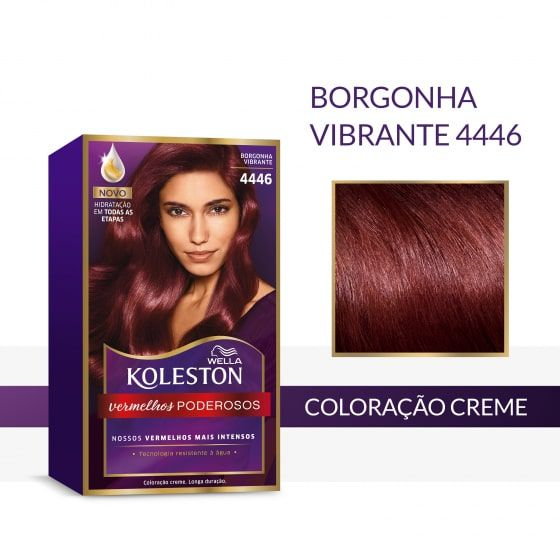 Koleston Coloração 4446 Borgonha Vibrante