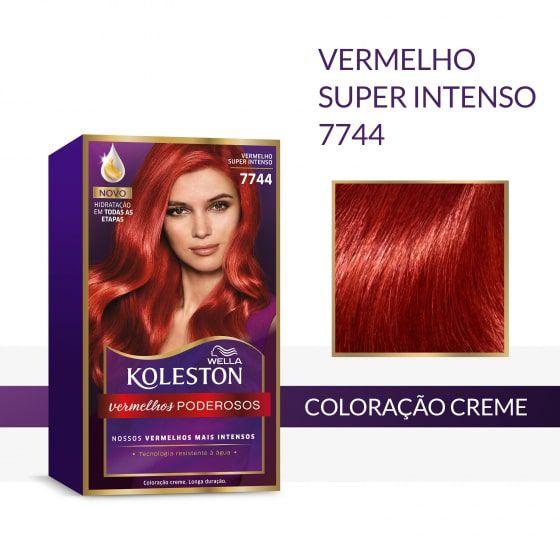 Koleston Coloração 7744 Vermelho Super Intenso