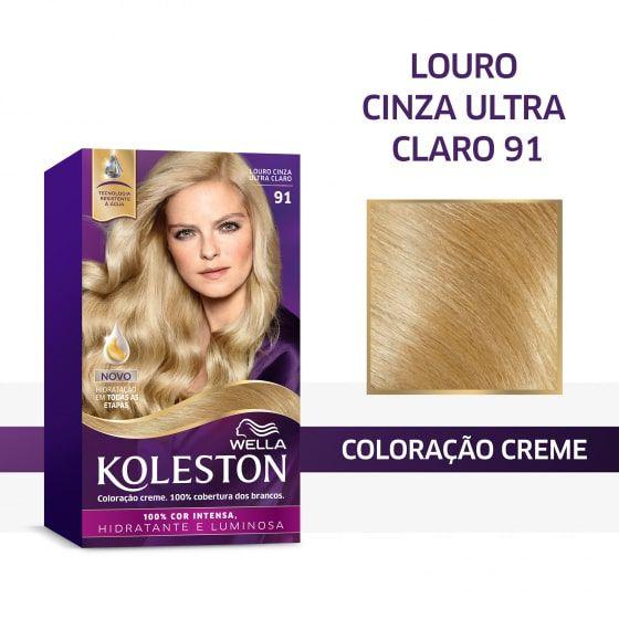 Koleston Coloração 91 Louro Cinza Ultraclaro