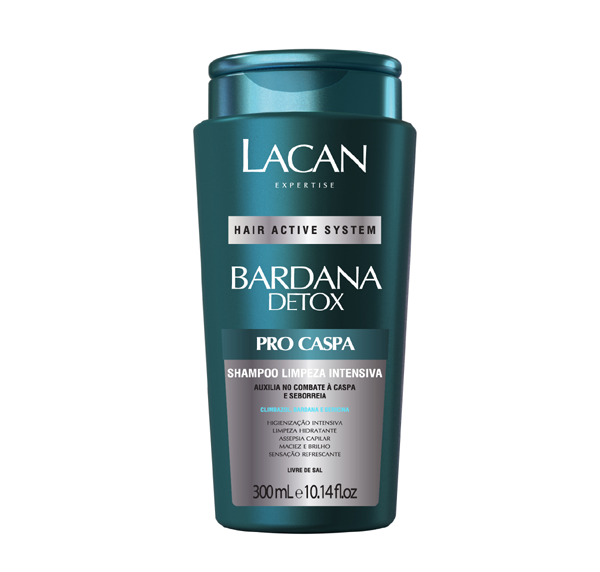 Lacan Shampoo Bardana Detox Pró Caspa 300ml