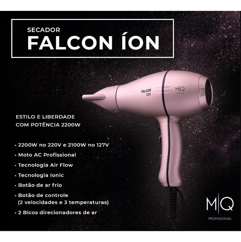MQ Professional Secador Falcon Íon Rose Gold 2100W 110V
