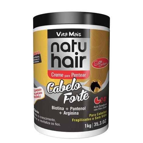 Natu Hair Creme para Pentear Cabelo Forte 1000g