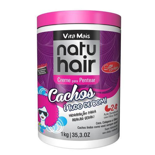 Natu Hair Creme para Pentear Cachos É Tudo De Bom 1000g