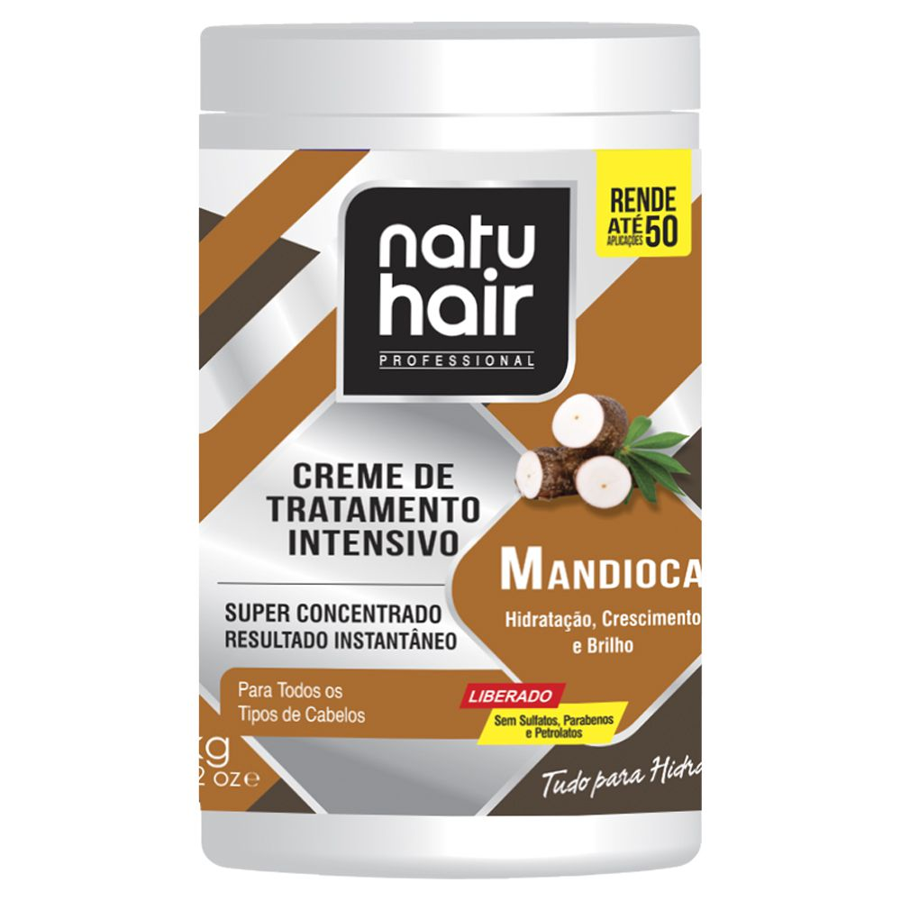 Natu Hair Creme para Pentear Mandioca 1000g