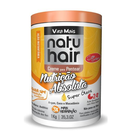 Natu Hair Creme para Pentear Nutrição Absoluta 1000g