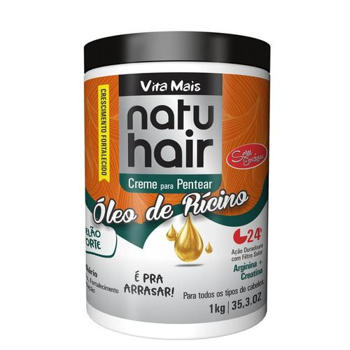 Natu Hair Creme para Pentear Óleo De Rícino 1000g