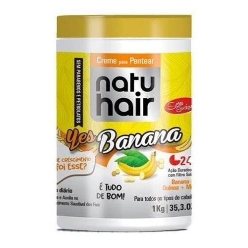 Natu Hair Creme para Pentear Yes Banana 1000g