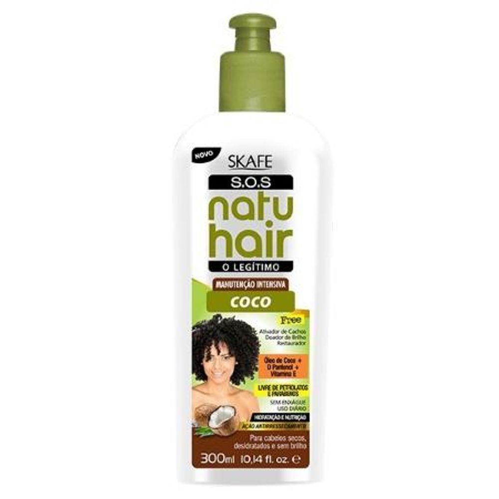 Natu Hair Leave-in Kit Manutenção Intensiva Coco 300+300mL
