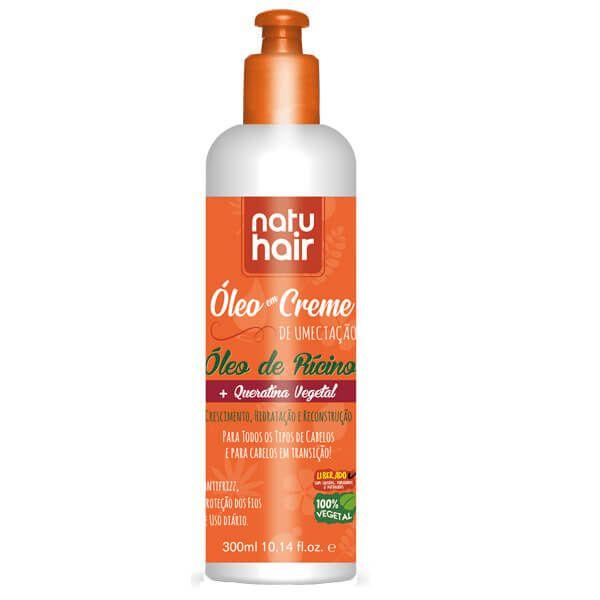 Natu Hair Leave-in Óleo em Creme Óleo de Rícino 300mL