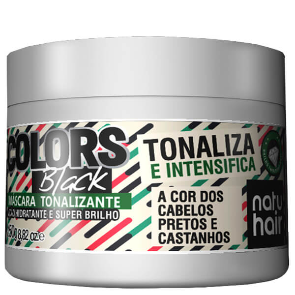 Natu Hair Máscara Tonalizante Black 250g