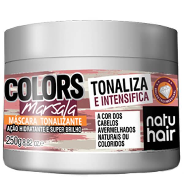 Natu Hair Máscara Tonalizante Marsala 250g