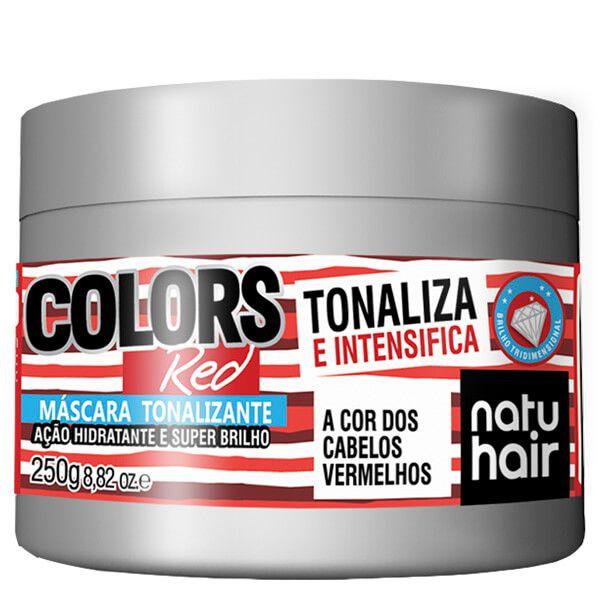 Natu Hair Máscara Tonalizante Red 250g