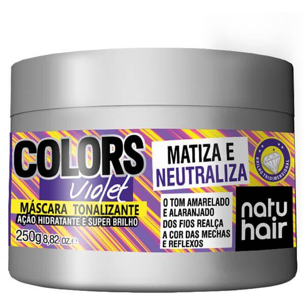 Natu Hair Máscara Tonalizante Violet 250g