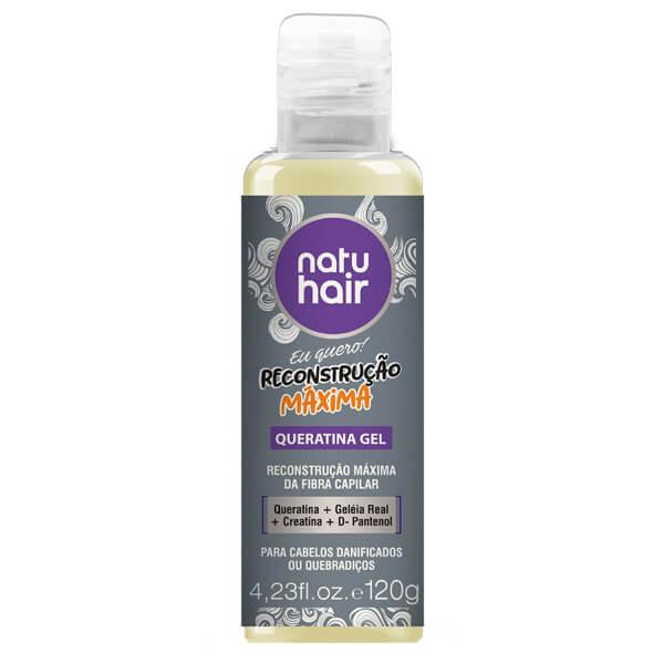 Natu Hair Queratina Gel Reconstrução Máxima 120g