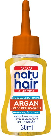 Natu Hair Reparador de Pontas S.O.S. Argan 30mL