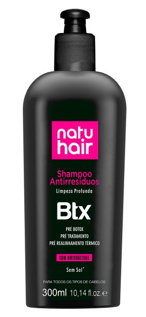Natu Hair Shampoo Antirresíduo Botox 300mL