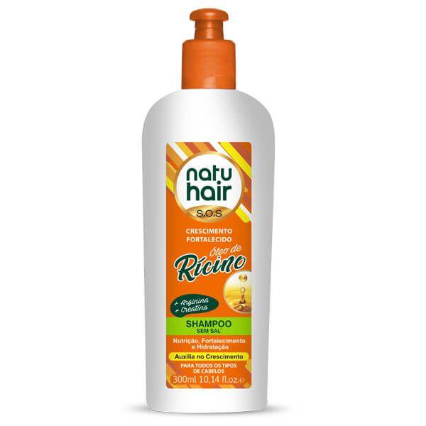 Natu Hair Shampoo Óleo de Rícino 300mL