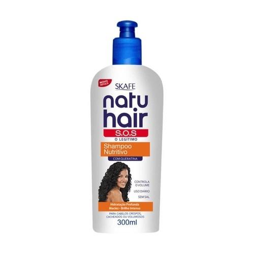 Natu Hair Shampoo S.O.S. Nutritivo com Queratina 300mL