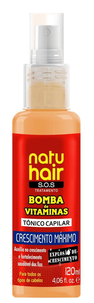 Natu Hair Tônico Capilar Crescimento Máximo 120mL