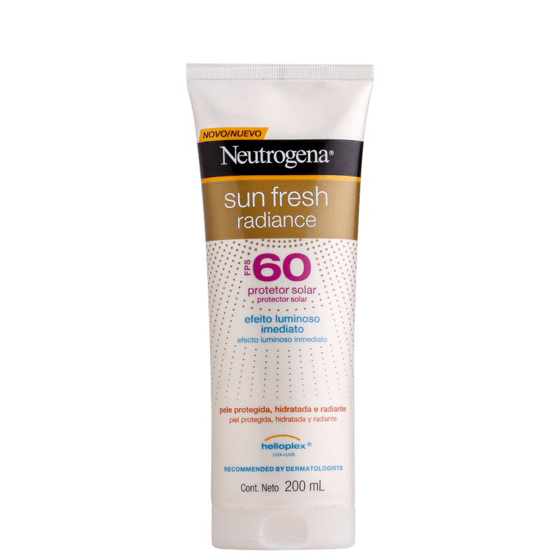 Neutrogena Protetor Solar Sun Fresh Radiance FPS 60 200mL
