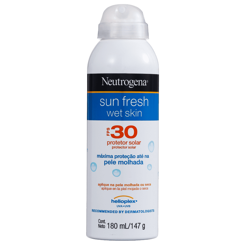 Neutrogena Protetor Solar Sun Fresh Wet Skin FPS 30 180mL