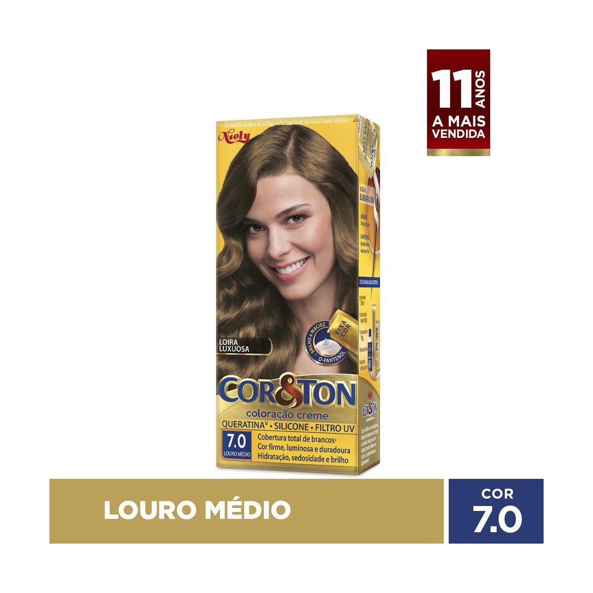 Niely Coloração Cor&Ton 7.0 Louro Médio 180g