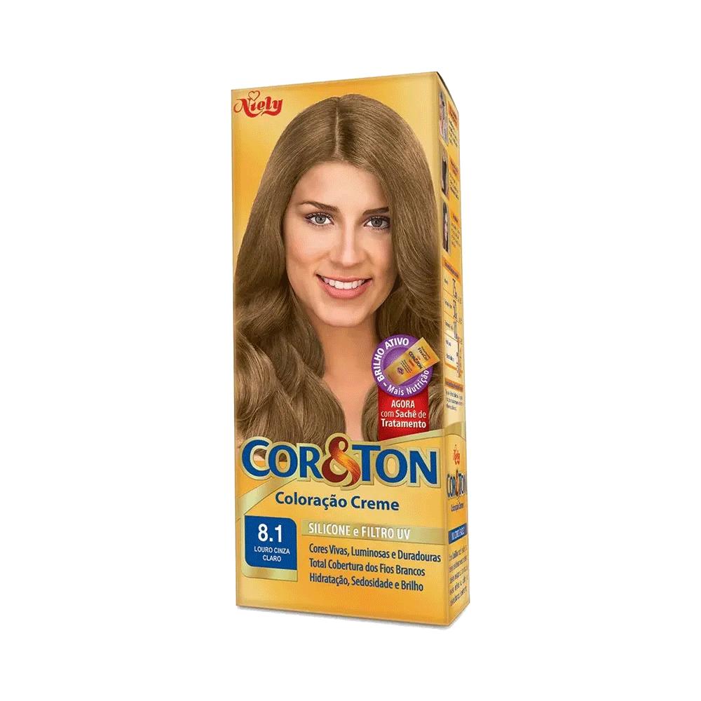 Niely Coloração Cor&Ton 8.1 Louro Cinza Claro 180g