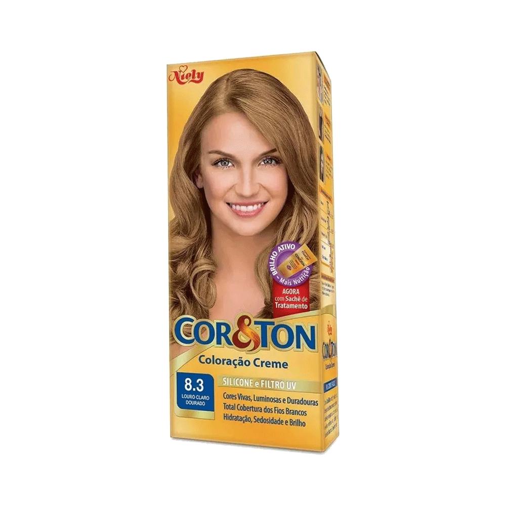 Niely Coloração Cor&Ton 8.3 Louro Claro Dourado 180g