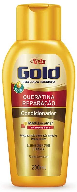 Niely Gold Condicionador Queratina Reparação 200mL
