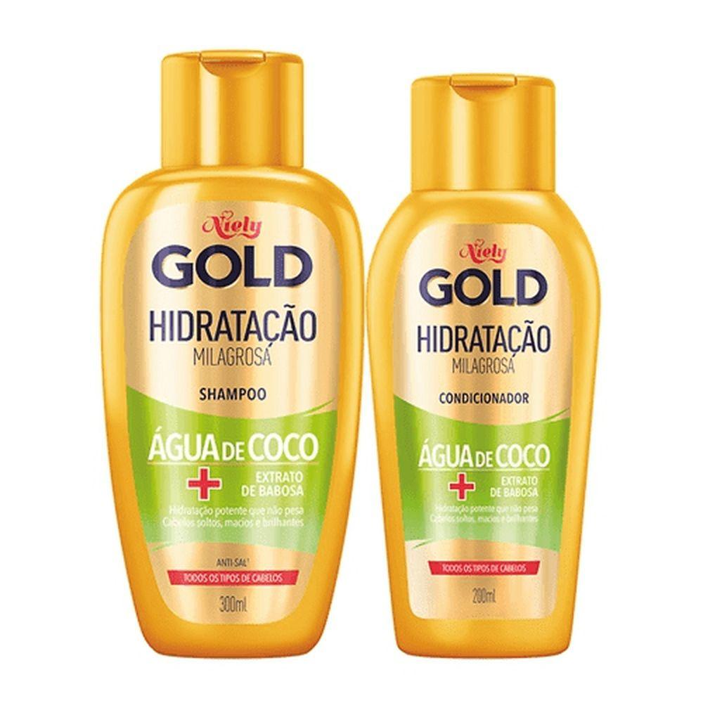 Niely Gold Kit Shampoo + Condicionador Água de Coco 300+200mL