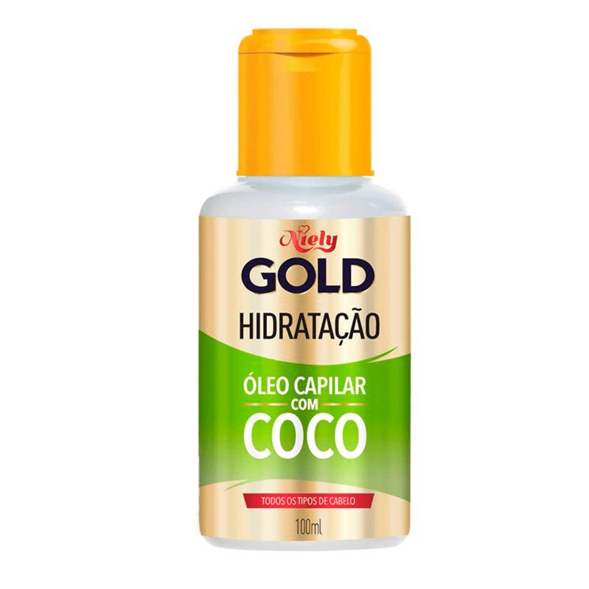 Niely Gold Óleo Capilar Hidratação com Coco 100mL