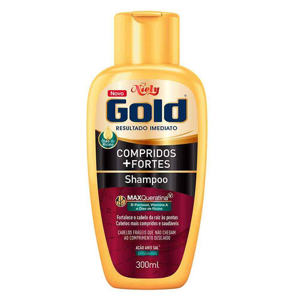 Niely Gold Shampoo Compridos+Fortes 300mL