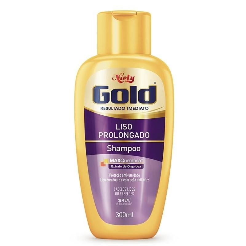 Niely Gold Shampoo Liso Prolongado 300mL