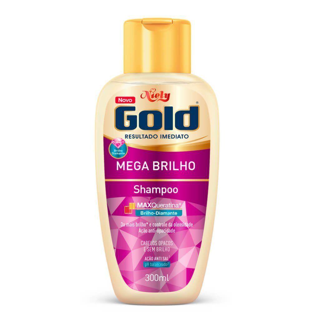 Niely Gold Shampoo Mega Brilho 300mL