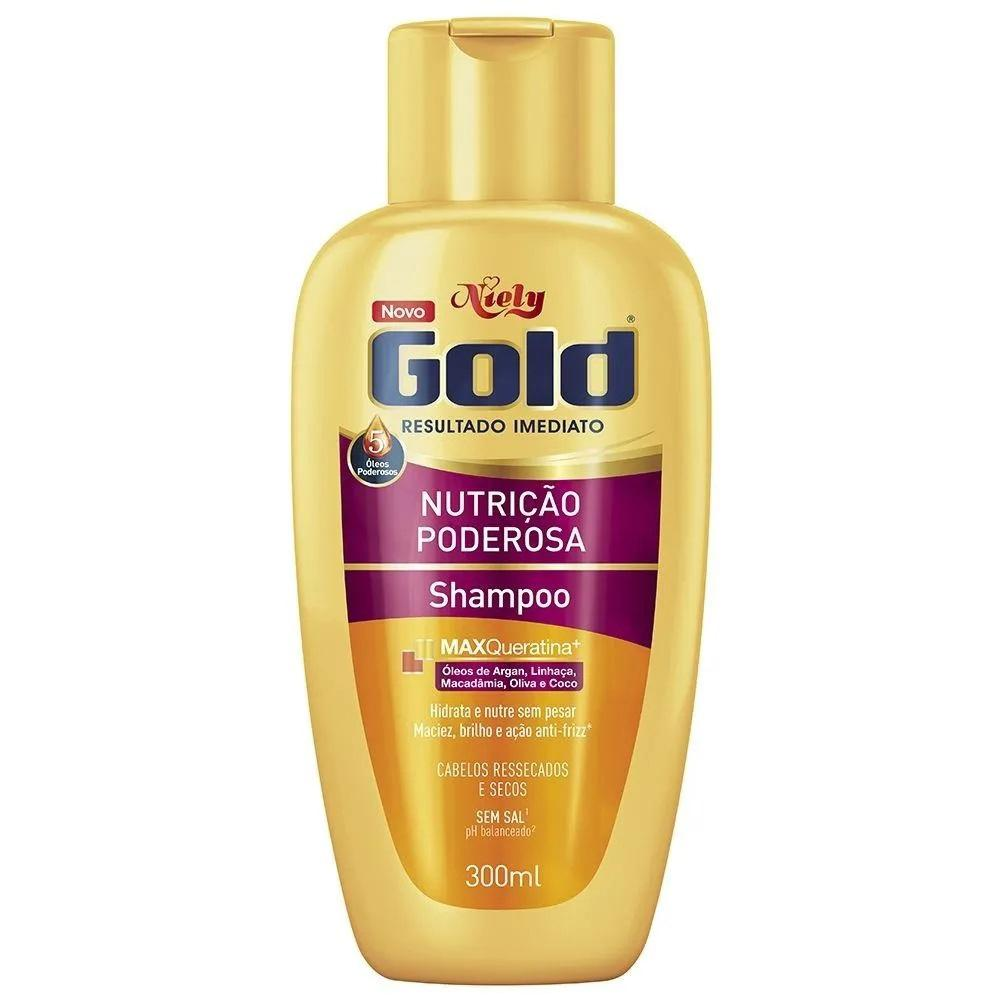Niely Gold Shampoo Nutrição Poderosa 300mL