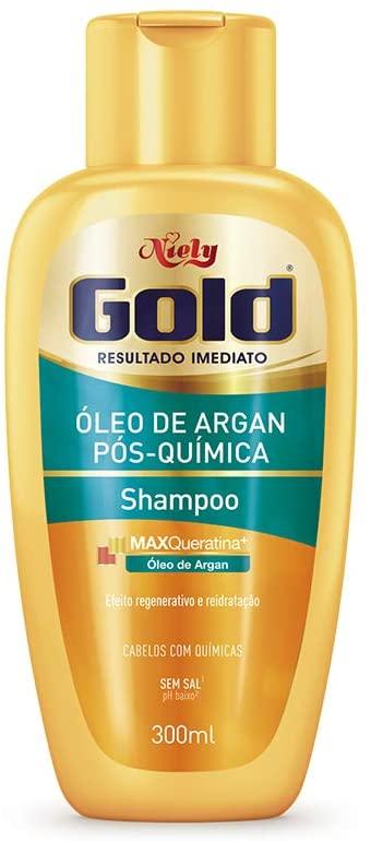 Niely Gold Shampoo Óleo de Argan Pós-Química 300mL