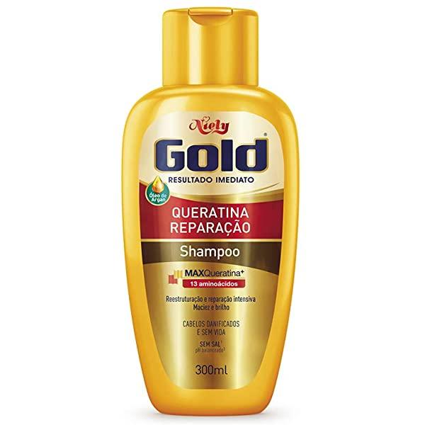 Niely Gold Shampoo Queratina Reparação 300mL