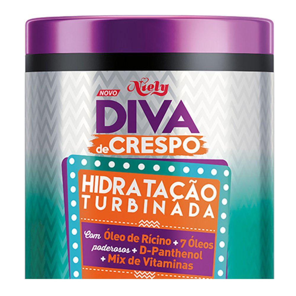 Niely Máscara Diva de Crespo Turbinado 1000g