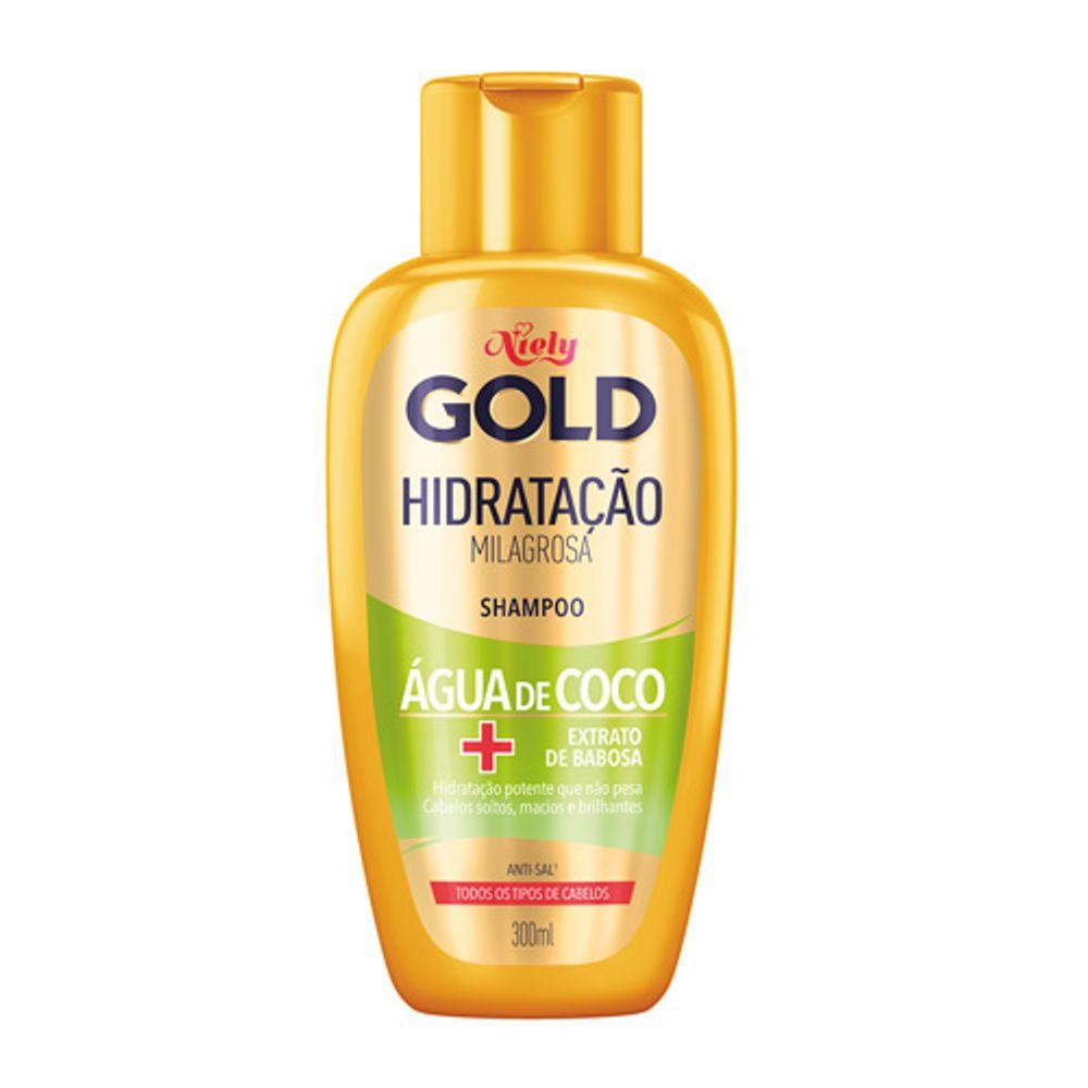 Niely Shampoo Água de Coco Hidratação Milagrosa 300mL
