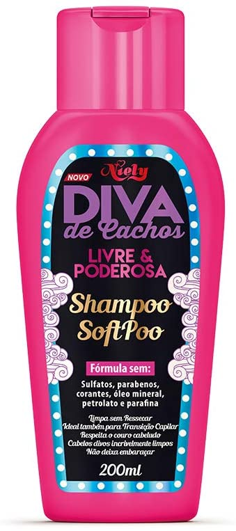 Niely Shampoo Diva de Cachos Soft Poo 200mL