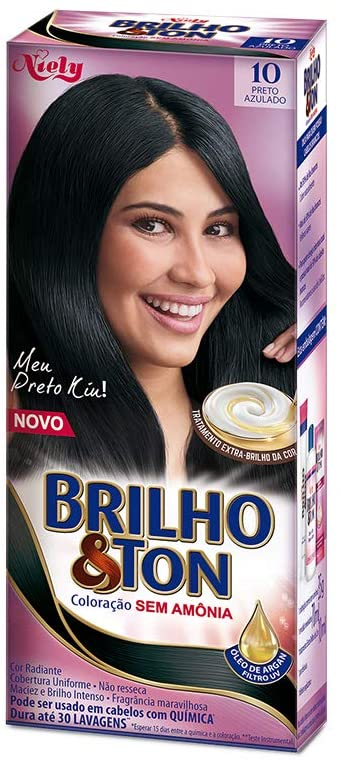 Niely Tonalizante Brilho & Ton 10 Preto Azulado 180g
