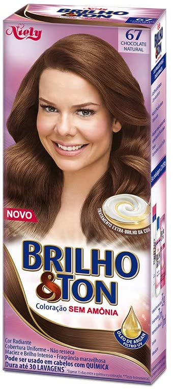 Niely Tonalizante Brilho & Ton 67 Chocolate Natural 180g