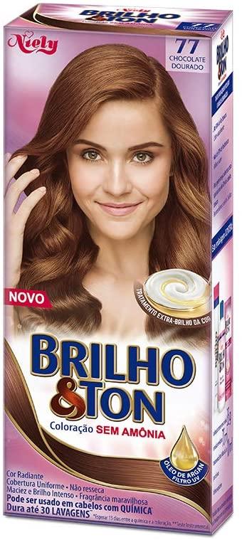 Niely Tonalizante Brilho & Ton 77 Chocolate Dourado 180g
