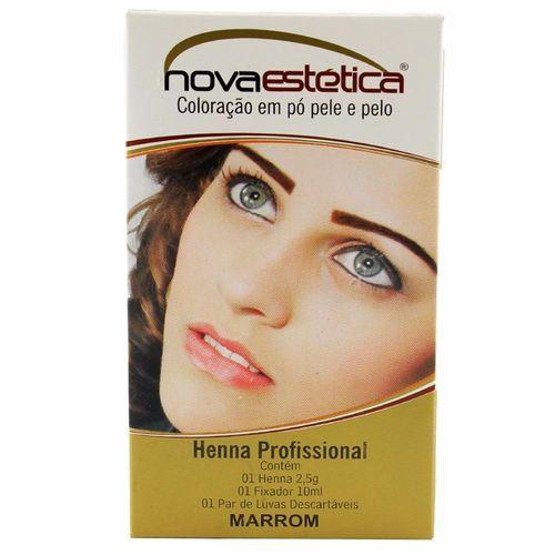 Nova Estética Henna para Sobrancelha Marrom 2,5g