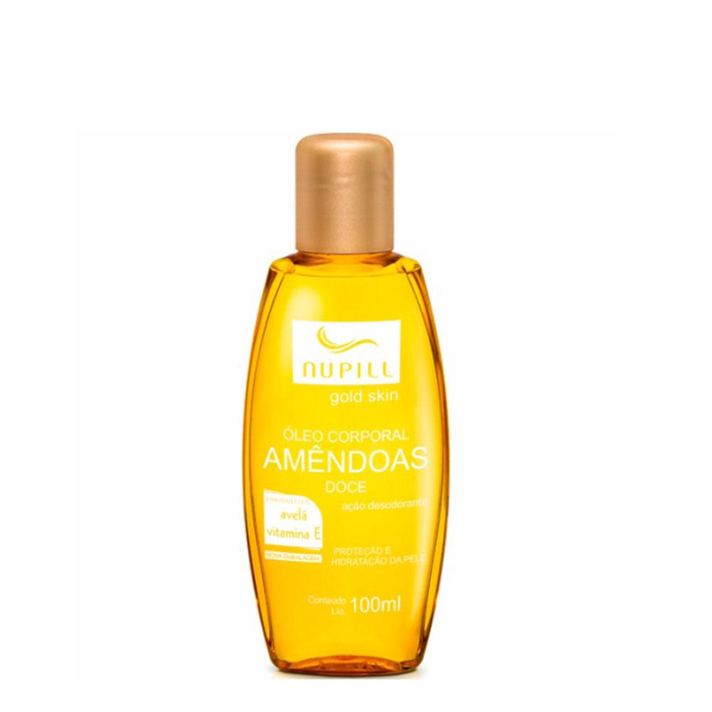 Nupill Hidratante corporal Gold Skin Óleo de Avelã + Vitamina E 100ml
