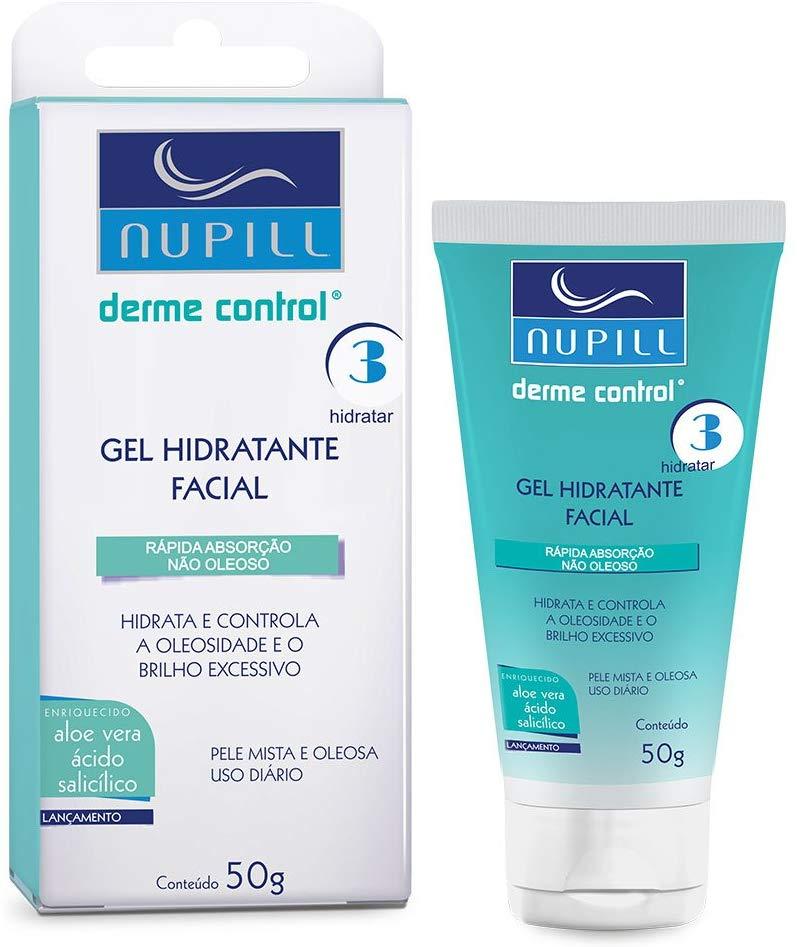 Nupill Hidratante Facial Derme Control - Aloe Vera + Ácido Salicílico 50g