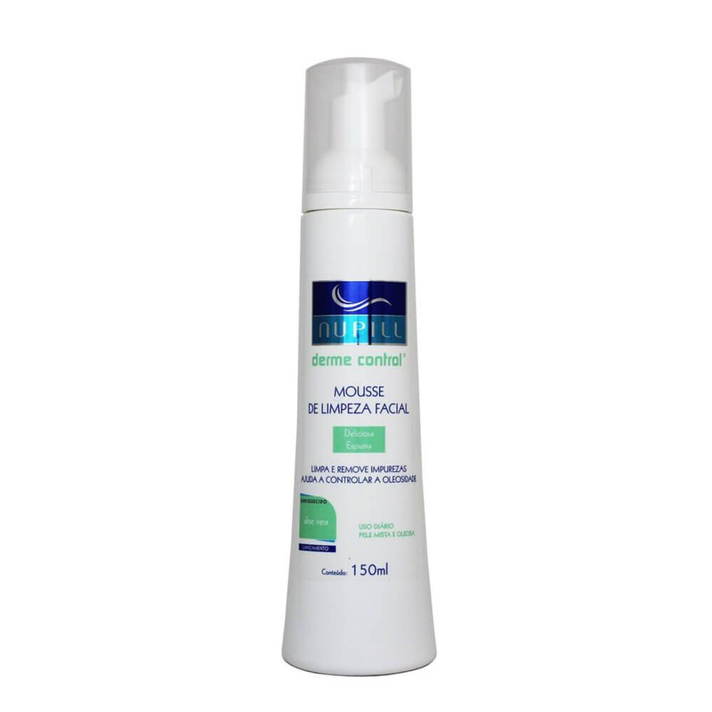 Nupill Sabonete Facial Derme Control Mousse de Limpeza Facial 150ml
