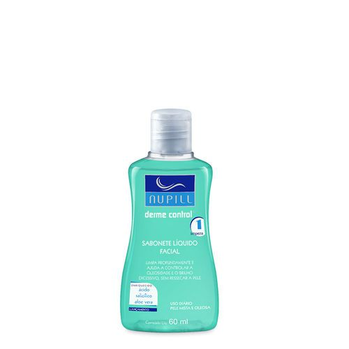 Nupill Sabonete Facial Derme Control Sabonete Liquido Facial 60ml