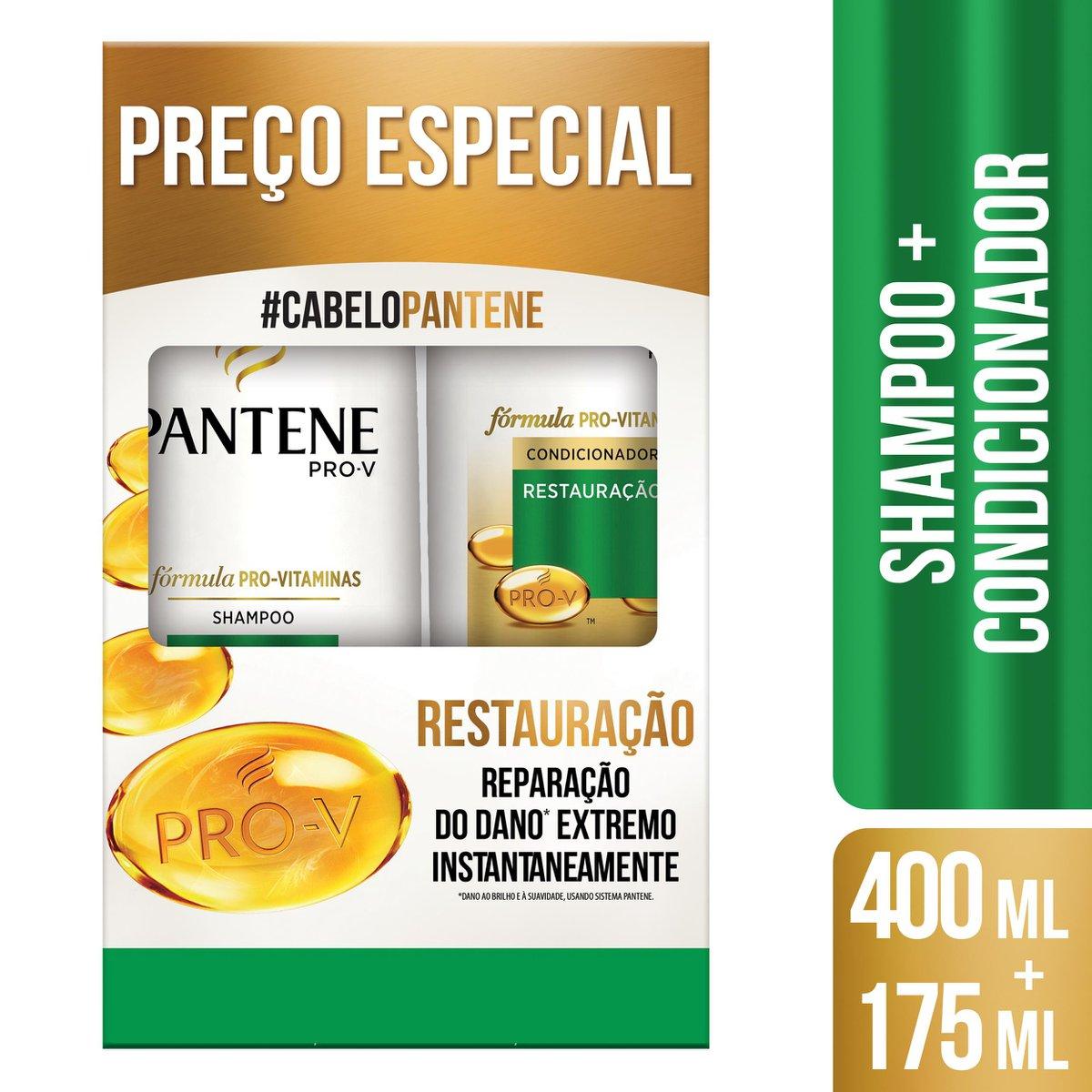 Pantene Kit Restauração Shampoo 400mL + Condicionador 175mL